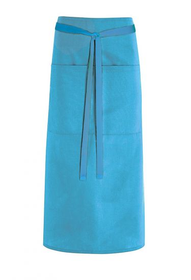 Mid length waist apron with pocket
