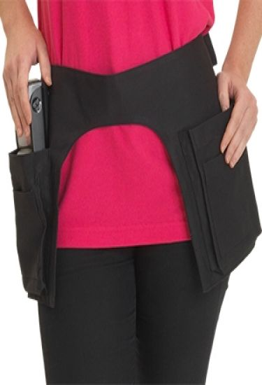 Denny's black holster, money pocket apron