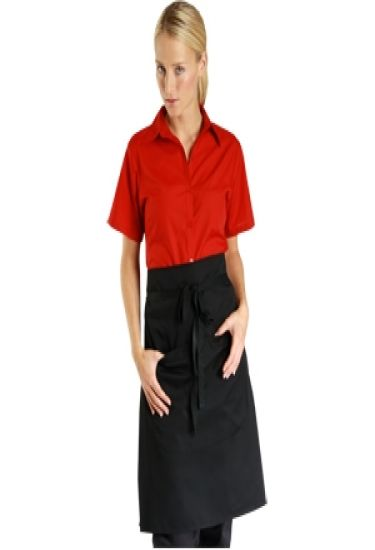 Denny's narrow waist apron with pocket