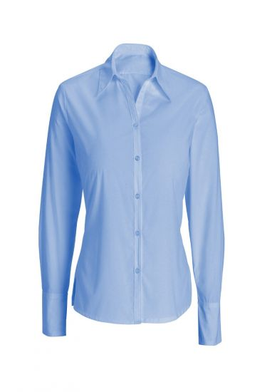 Women's woven colour long sleeved shirt