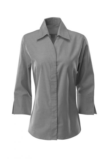 Women's Oxford ¾ sleeved shirt