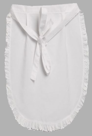 Waitress apron with frill