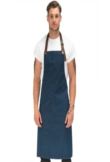 Le Chef prep statement denim bib apron