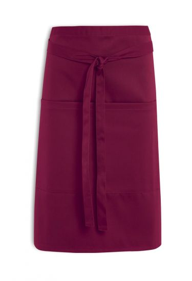 Short waist apron with pocket