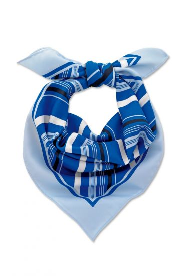 Multi blue stripe scarf
