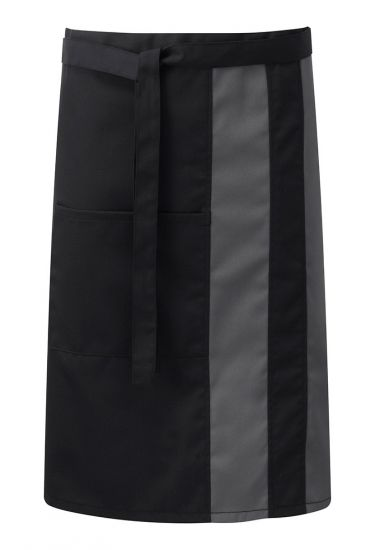 Contrast waist apron with pocket