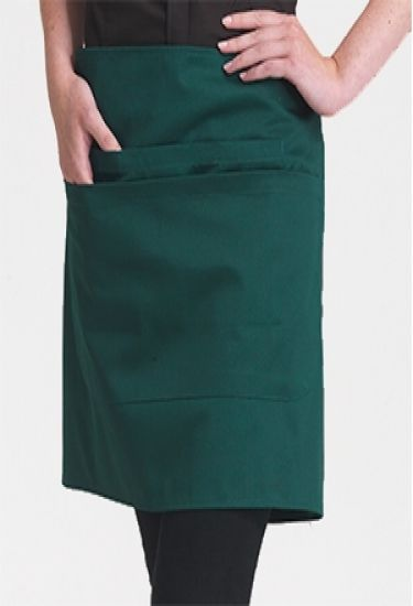 Denny's short bar apron with a pocket