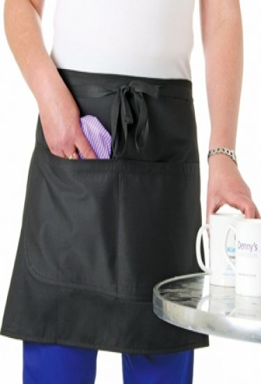 Apron with large waterproof pocket