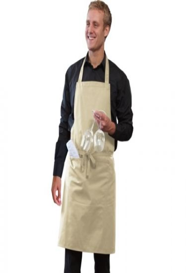 Bib apron with pocket and adjustable halter