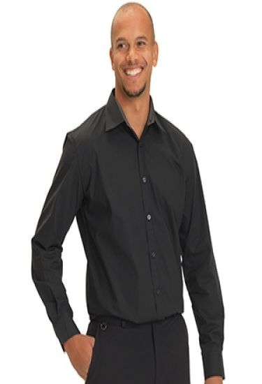 Mens slim fit shirt with stretch