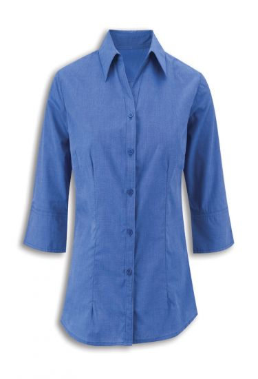 Women's woven colour ¾ sleeved shirt